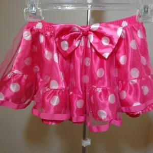 Disney Pink Polka Dot Girls Skirt sz 8